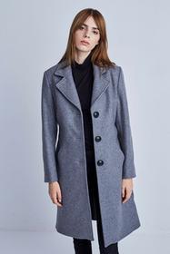 Szary klasyczny płaszcz Polanka