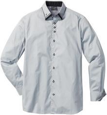 Bonprix Koszula biznesowa Slim Fit srebrnoszary