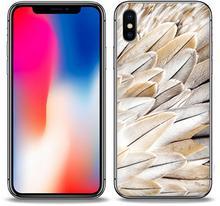 Etuo.pl etuo Foto Case - Apple iPhone X - etui na telefon Foto Case - białe pióra ETAP611FOTOFT017000