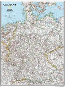 National Geographic Niemcy Classic polityczna mapa ścienna, 1:1 375 000