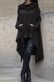 Bluza ponczo BORA BLACK 005014-25