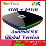 Google Allwinner H6 6K Smart TV Box Android 9.0 4GB RAM 64GB ROM QuadCore sklep Play Youtube zestaw