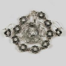 NA Komplet srebrny bransoletka + wisiorek + kolczyki B87/0 W59/0 K20/0 (B87/0 W59/0 K20/0) 315.00