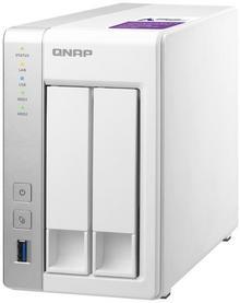Qnap 2-Bay NAS,Annapurna Labs AL314 Quad core 1.7GHz, 1GB DDR3 SODIMM TS-231P2-1G
