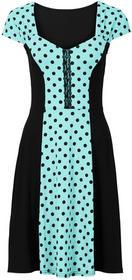 Bonprix Sukienka w groszki morsko-czarny w groszki