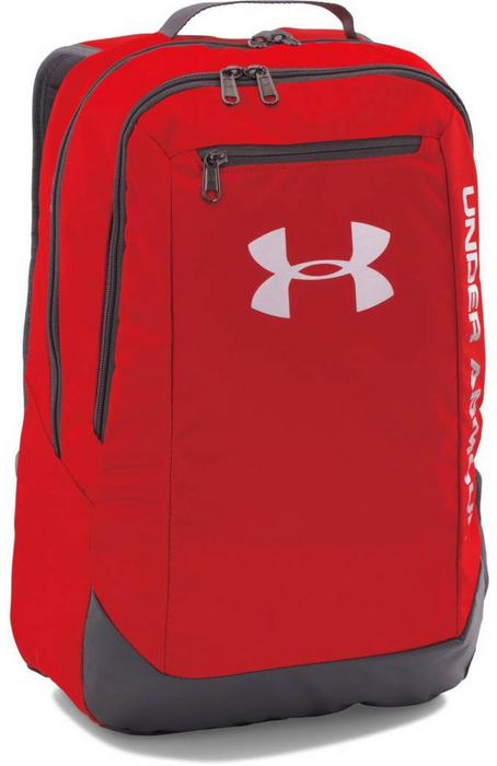 7b4daee46d19 Under Armour UA HUSTLE BACKPACK LDWR - RED GPH SLV – ceny