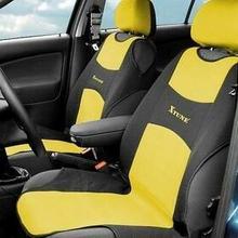 Pokrowce na siedzenia Compass TRIKO przednie 2 szt żółte