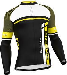 FDX FDX 1220 męska bluza rowerowa czarno-żółta