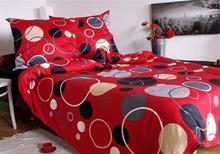 Andropol Pościel satynowa Gillan Red 100% bawełny