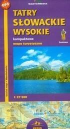 Mapa turystyczna Tatry Słowackie Wysokie