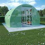vidaXL Szklarnia ogrodowa ze stalową konstrukcją, 9m, 300x300x200cm