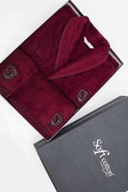 Męski szlafrok LUXURY + ręczniki + pudełko