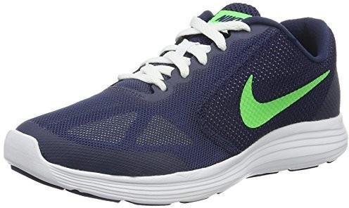 7de0ddf8 Nike Buty do biegania Revolution 3 dla chłopców, kolor: niebieski, rozmiar:  37.5 EU _Deep Royal Blue/Vltg Green-Wht - Ceny i opinie na Skapiec.pl