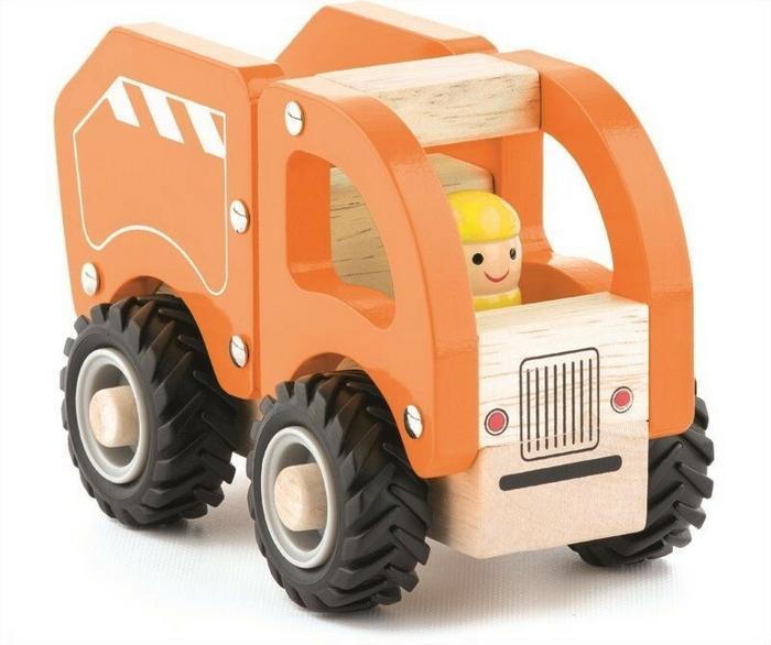 WoodyLand Śmieciarka z gumowymi kołami WD91801
