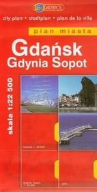 Daunpol  Gdańsk Gdynia Sopot plan miasta 1:22 500