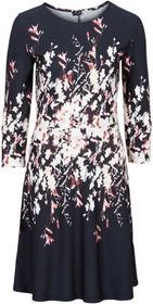 Bonprix Sukienka z nadrukiem czarny z nadrukiem