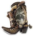 Katerina Prestige Ramka na zdjęcia Western Cowboy pistolet na buty i Holster 24cm IN0174
