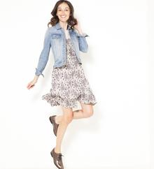 Camaeu Sukienka z szyfonu w kwiaty z falbankami 513887_0901