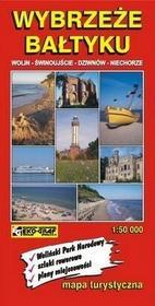 Wybrzeże Bałtyku Wolin - Świnoujście - Dziwnów - Niechorze mapa 1:50 000 - Praca zbiorowa