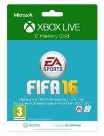 Microsoft MS Xbox 12 months subscription Xbox Live Gold + 1M EA Access branding FIFA 52M-00557