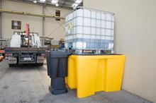 Topserw Paleta wychwytowa o pojemności 1120 l, mag. 1*IBC/KTC, wym. 1450 x 1450 x 1000 mm (Kolor żółty)