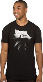 J!NX Koszulka Wiedźmin 3: Wolf Silhouette MĘSKA