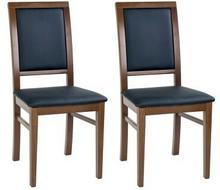 Forte Krzesła Lati ekoskóra komplet 2 szt. czarny /dąb