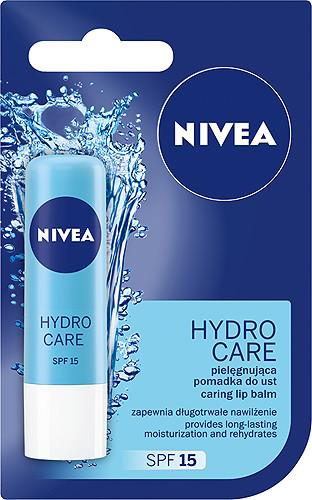 Nivea Hydro Care pielęgnująca pomadka do ust, 4,8g