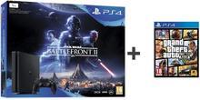 Sony PlayStation 4 slim 1TB Czarny + Star Wars Battlefront II + GTA V