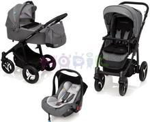 Baby Design Wózek wielofunkcyjny 3w1 Lupo Comfort graphite