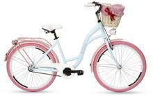 """Goetze, Rower miejski, Colours 26"""", błękitno-różowy"""