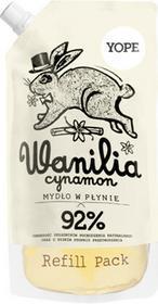 YOPE Mydło w płynie naturalne - Wanilia i cynamon doypack 500ml
