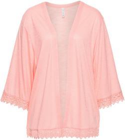 Bonprix Wdzianko shirtowe bez zapięcia łososiowo-jasnoróżowy
