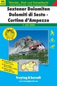 Freytag&Berndt Sextener Dolomiten, Cortina d'Ampezzo, 1:50 000