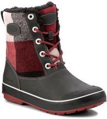 Keen Śniegowce Elsa Boot Wp 1017956 Black/Red Dalhia