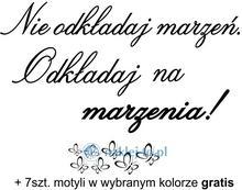 Naklej-to.pl naklejka Nie odkładaj marzeń naklejki nieodkadaj01