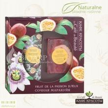 Le Cafe de Beaute Le Cafe de Beaute- zestaw PASSION FRUIT - krem do rąk + ręcznie robione mydło glicerynowe KK134