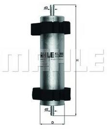 KNECHT filtr paliwa KL66 - BMW 316i 94->, 323 95->