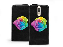 Etuo.pl etuo Flip Fantastic - Huawei Mate 10 Lite - etui na telefon Flip Fantastic - kolorowa róża ETHW618FLFCFF018000