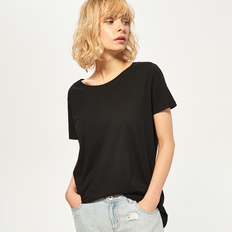 Reserved Koszulka z bawełny organicznej - Czarny