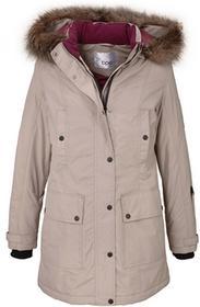 Bonprix Długa kurtka outdoorowa beżowo-szary