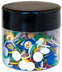 Q-CONNECT Pinezki klasyczne . w szklanym słoiku. mix kolorów KF03649