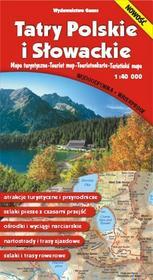 Tatry polskie i słowackie  mapa (skala 1:40 000) - Opracowanie zbiorowe