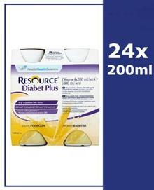 Nestle Health Science RESOURCE DIABET PLUS Smak waniliowy 24x200 ml
