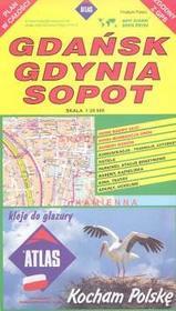 PIĘTKA Gdańsk, Gdynia, Sopot - plan w całości, skala 1:20 000 - Piętka