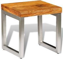 vidaXL Stolik do kawy drewno sheesham i metalowe elementy