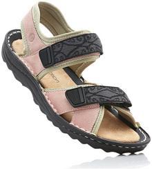 Bonprix Sandały trekkingowe ze skóry jasnoróżowy