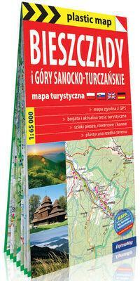 Bieszczady i Góry Sanocko-Turczańskie foliowana mapa turystyczna 1:65 000 Expressmap