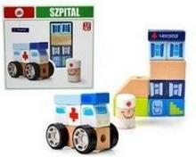 Playme Drewno układanka Szpital
