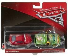 Mattel Auta Matel CARS 3 dwupak Chick Hicks with Headset &amp Natalie Certain Die-Cast Vehicle DXV99/DXW07